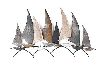 Eta Dm Décoration Murale Métal Thème Marine Bateaux Régate Bateaux