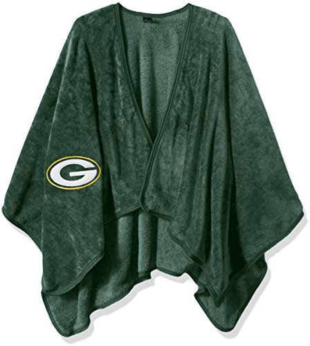 THE NORTHWEST COMPANY Officially Licensed NFL Green Bay Packers Silk Touch Throw Blanket Wrap with Applique, One Size, Multi Color (Green Bay Packers Robe)