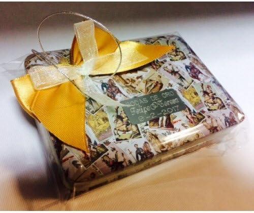 Baraja de cartas con caja PERSONALIZADA regalo detalle para invitados boda, bautizo, comunión, bodas de oro, bodas de plata, eventos. (pack 10 unidades) regalos detalles originales GRABADOS: Amazon.es: Hogar