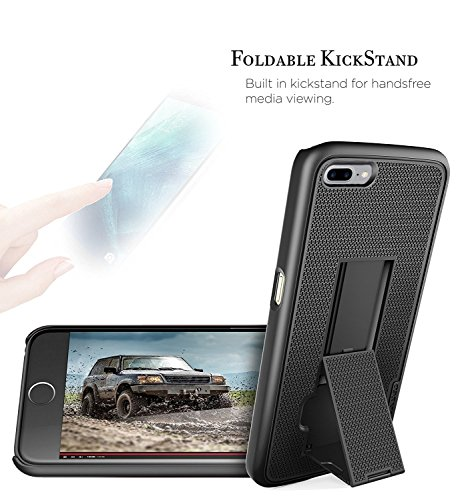 Encased iPhone 7 Plus 5.5'' Belt Clip Case, (Ultra Thin) Secure-fit Cover w/ ClikLock Holster (Black) by Encased (Image #4)
