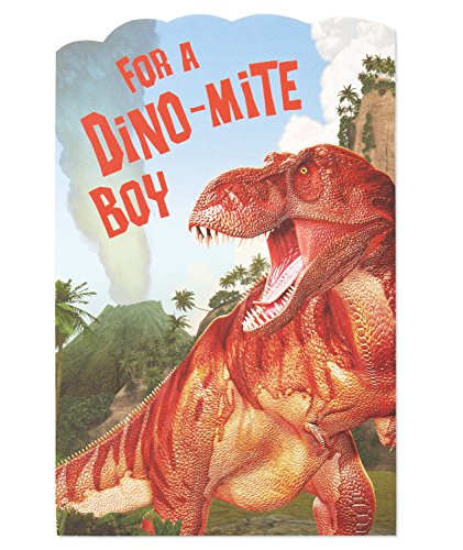 American Greetings Dino-mite Birthday Greeting Card for Boy with Pop-Up (Birthday Card For 8 Year Old Boy)