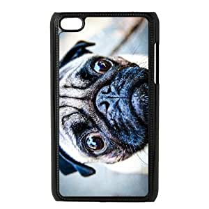Generic for iPod Touch 4 Case Black Pocket Pug Custom HKADSGHGO4138