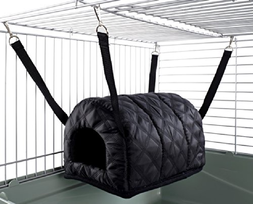 Little Friends Cuddle Up Rat Chinchilla Igloo, Quilted Black