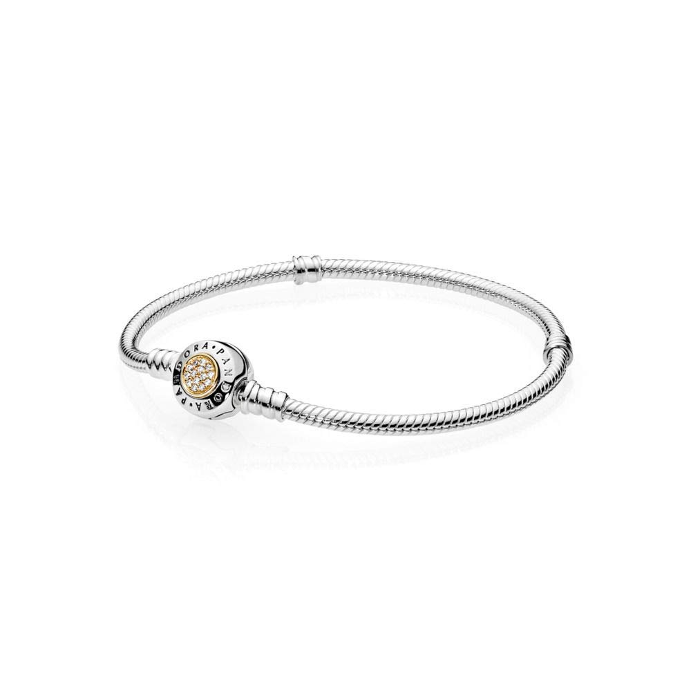 175b77454a73c PANDORA Signature Two-Tone Bracelet with Clear CZ