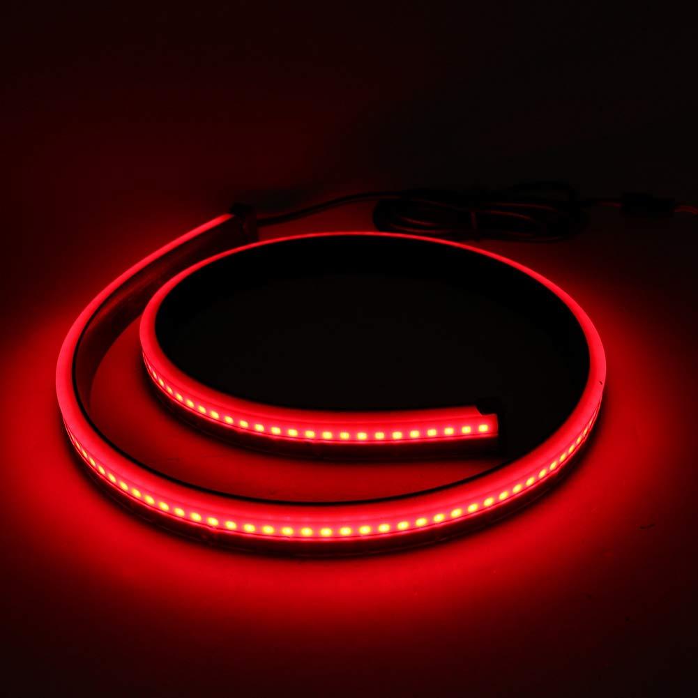 EBTOOLS Striscia LED del freno di posizione alta posteriore dellautomobile,Indicatore di direzione di sicurezza Lampada di guida Spia luci di arresto PVC Spia LED Modalit/à multipla