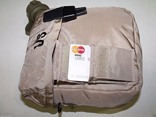 NEW 2 QT Collapsible Water CANTEEN + Desert Tan COVER POUCH with Sling US Army Military by US Goverment GI USGI