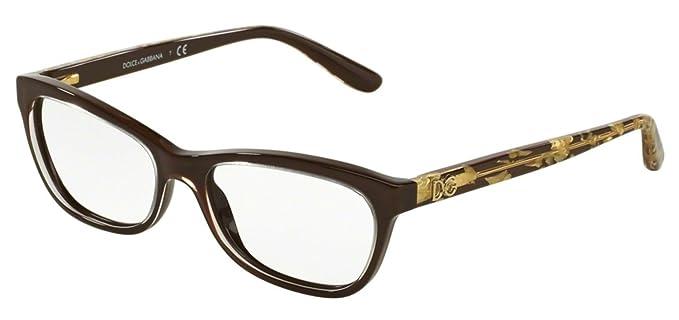89fe962a8f6 Dolce Gabbana DG3221 Eyeglass Frames 2918-51 - Crystal On Brown  DG3221-2918-51