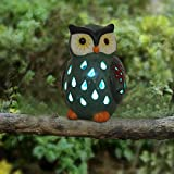 ASTRAEUS Owl Light Decor Solar Animal Light Led Owl Light Landscape Path Light for Park/Patio/Deck/Yard/Home/Pathway Olive Green