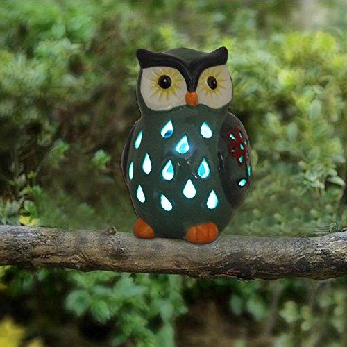 ASTRAEUS Owl Light Decor Solar Animal Light Led Owl Light Landscape Path Light for Park/Patio/Deck/Yard/Home/Pathway Olive Green