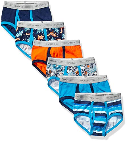 Hanes Boys' Toddler Brief, Assorted Prints & Solids, 4T (Toddler Boy Briefs 5t)