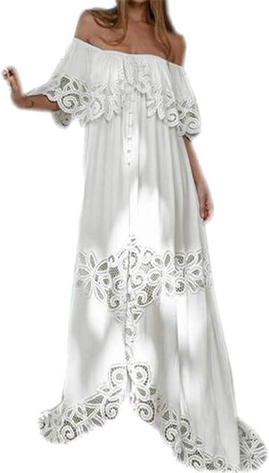 Robe Longue Femme Ete Robe ImpriméE Fluide Robe Bustier