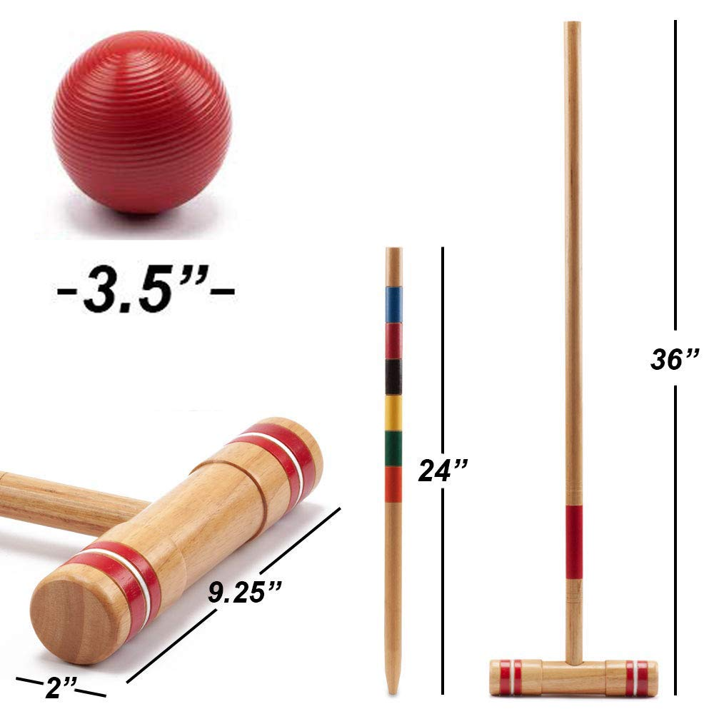 GSE Games & Sports Expert Premium 6-Player Croquet Set for Adults & Kids (Several Styles Available) (Deluxe) by GSE Games & Sports Expert (Image #2)