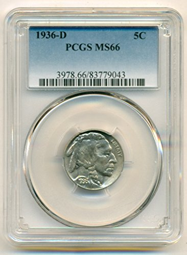 1936 D Buffalo Nickel MS66 PCGS