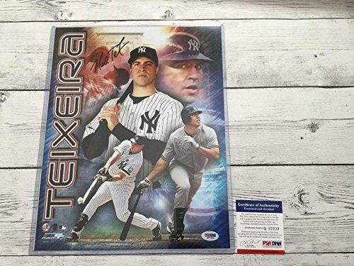 Mark Teixeira Photograph - Mark Teixeira Signed Photograph - NY 11x14 COA a - PSA/DNA Certified - Autographed MLB Photos