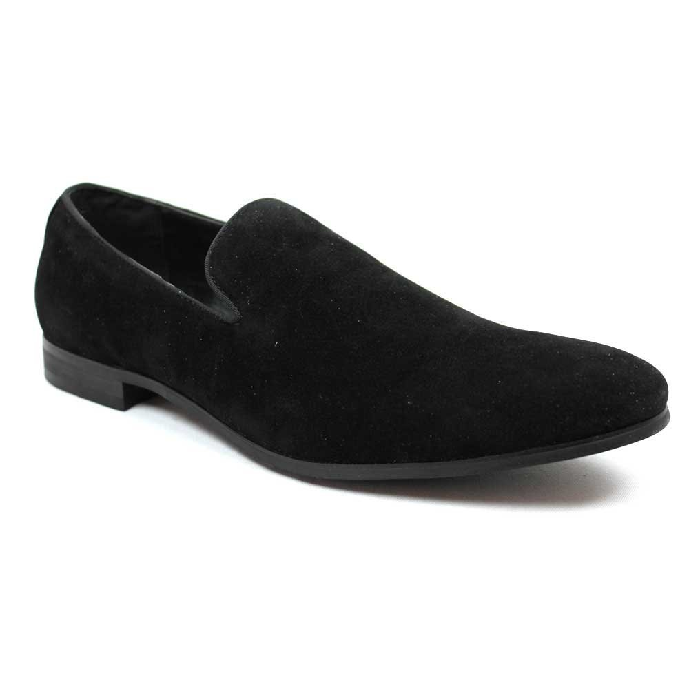 AZAR MAN New Men's Black Suede Slip on Loafers Modern Dress Shoes by (7)
