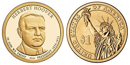 2014 D Herbert Hoover Presidential Dollar Bankroll Uncirculated