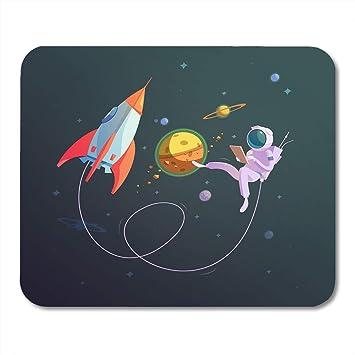 Alfombrilla para ratón Nave espacial Espacial abierta Cohete ...