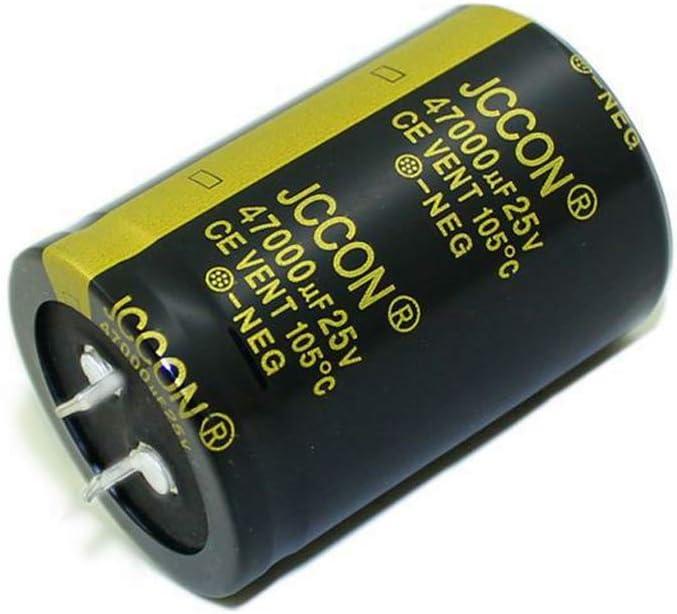 35 x 50 mm bassa ESR alta frequenza SHUXIN 47000 uF Condensatore elettrolitico in alluminio 25 V
