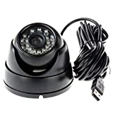 ELP Surveillance Mini Hidden USB Camera 720p Support Android Windows Linux (Night Vision Dome case 3.6mm)