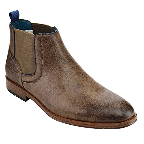 Boots Arider Mens Arider Ankle Mens Elastic Brown On Pull AD07 4nv86nW