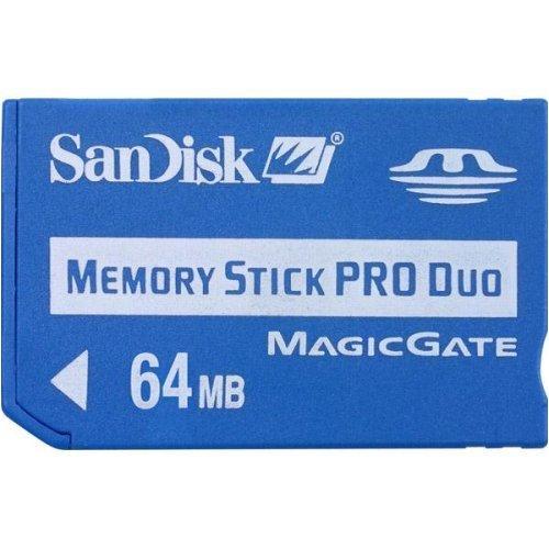 SanDisk - Scheda di memoria Pro Duo da 64 Mb (SDMSPDS-64-A99).