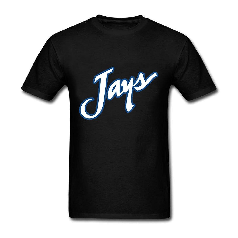 Cool Man's Creighton University Blue Jays 100% Cotton Short Sleeve T Shirts T-Shirt