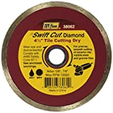 IVY Classic 38062 Swift Cut 4-1/2-Inch Dry and Wet Tile Cutting Continuous Rim Diamond Blade with 7/8-5/8-Inch Arbor, 1/Card