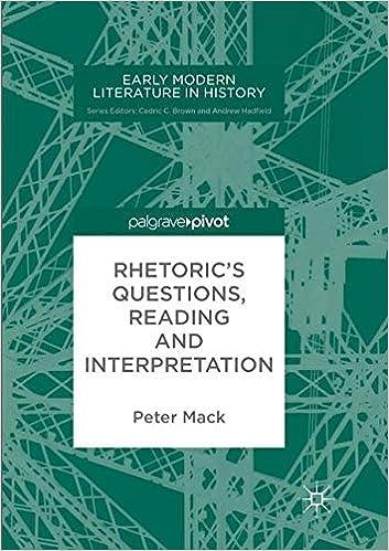 Descargar Torrents Rhetoric's Questions, Reading And Interpretation Epub Ingles