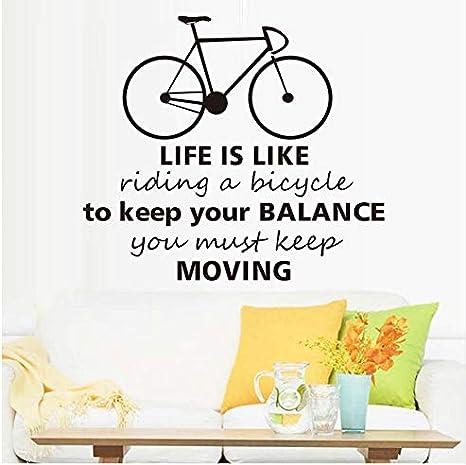 La vida es como montar una bicicleta pegatinas de pared Retro ...