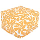 Majestic Home Goods Yellow Plantation Ottoman, Large
