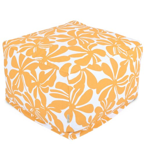 Majestic Home Goods Yellow Plantation Ottoman, Large by Majestic Home Goods