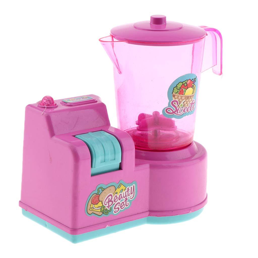 Flameer Kids Play Kitchen Toys Mini Kitchen Appliances Electric Juicer Kitchen Utensils Kitchen Playset Random Color