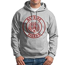 Bayside Tigers Logo Hoodie For Men Size L Ash