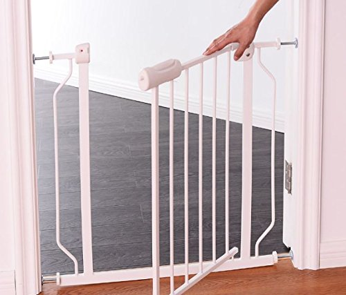 K&A Company Door Gate Safety Walk Baby Child Through Thru ToddlerExtra Metal Wide Fence Easy Tall 51SPfpwq2B7L