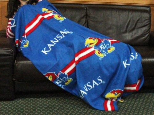 University Fleece Throw (Kansas University Jayhawks NCAA Fleece Throw Blanket by Northwest)