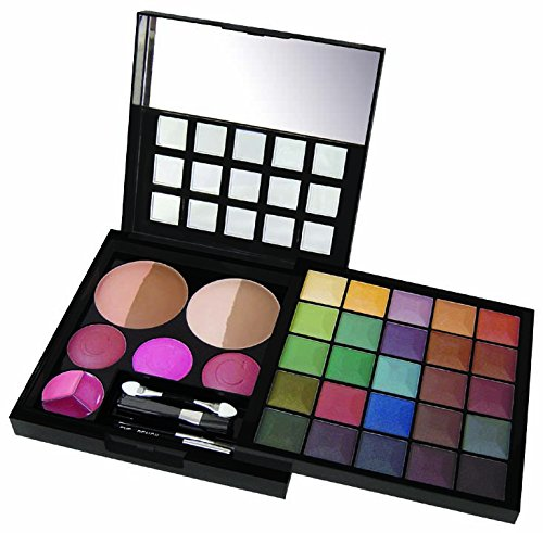 Cameo 'Pyramid Of Power' Professional Makeup Kit - 35 Piece Makeup Palette With Sturdy Case That's Perfect For Newbies And (7 Piece Daffodil Collection)