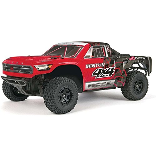 A Electric RC RTR Remote Control 4WD Short Course SC Truck with 2.4GHz Radio, 7C 2400mAH NiMH, Charger, 1:10 Scale (Red/Black) ()
