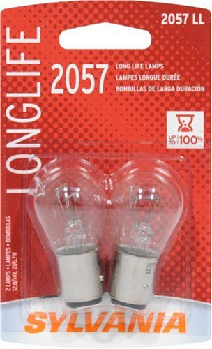 Amazon.com: Sylvania 2057 LL Long Life Miniature Lamp, (Pack of 2): Automotive
