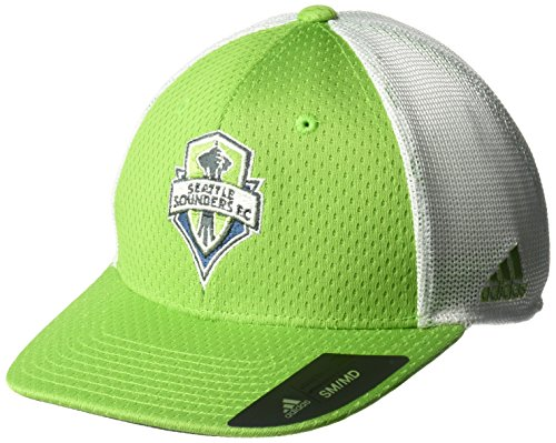 adidas MLS Seattle Sounders Fc Men's Meshback Structured Flex Hat, Small/Medium, Green ()