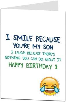 Funny Son Birthday Cards Happy Birthday Super Son Monkey Birthday Cards Funny Birthday Card For Son Humorous Card Son Birthday Cards