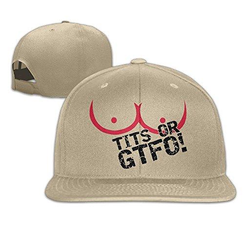 Aiguan Tits Or GTFO Flat Visor Baseball Cap - Designed Snapback Hat - 8 Colors (Usc Beer Bucket)