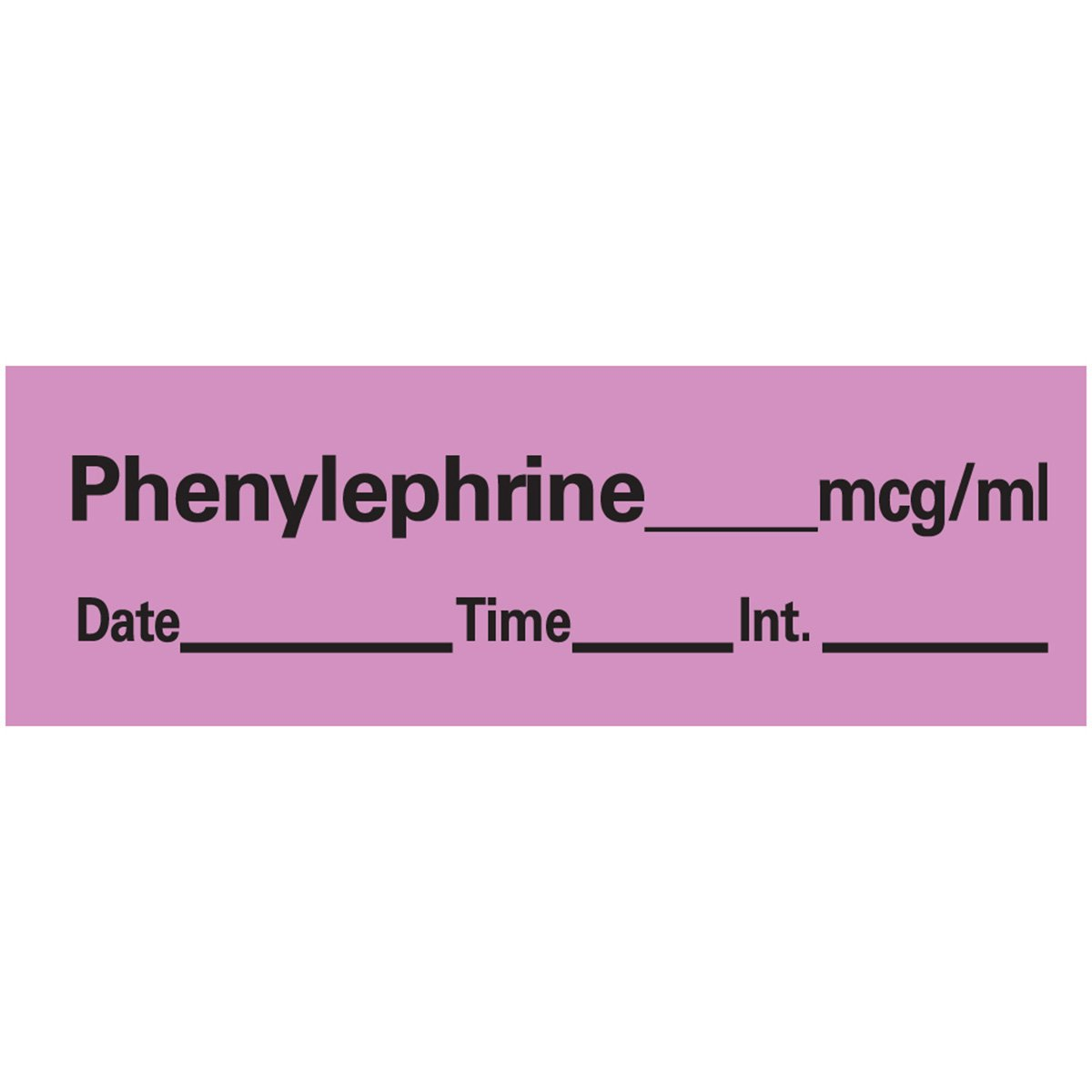 PDC Healthcare AN-81MCG Anesthesia Tape with Date, Time and Initial, Removable, Phenylephrine Mcg/mL 1'' Core, 1/2'' x 500'', Imprints Violet 333 (Pack of 1)