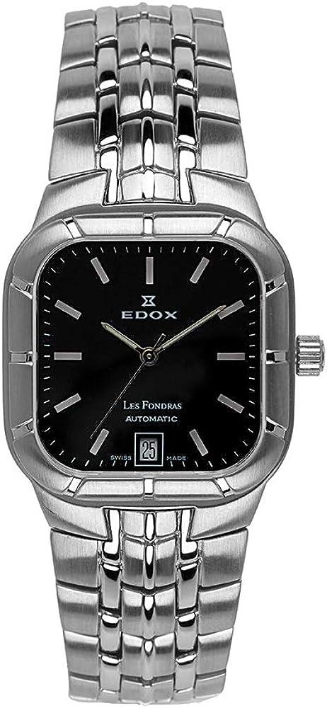 Reloj Edox Les Fondras, movimiento automático con fecha, 80039-2