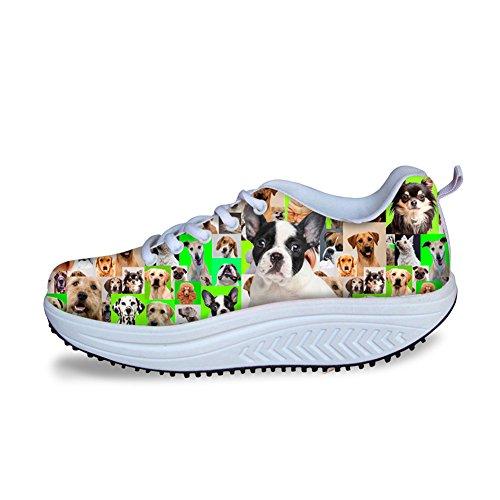 Sneakers Pink Terrier IDEA Boston for Fitness Platform Women Shoes Walking Fashion Green HUGS R4Iqa