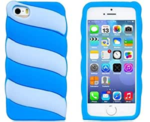 True Color Contrast Silicone Protective Case for Iphone 5s/5 (Blue)