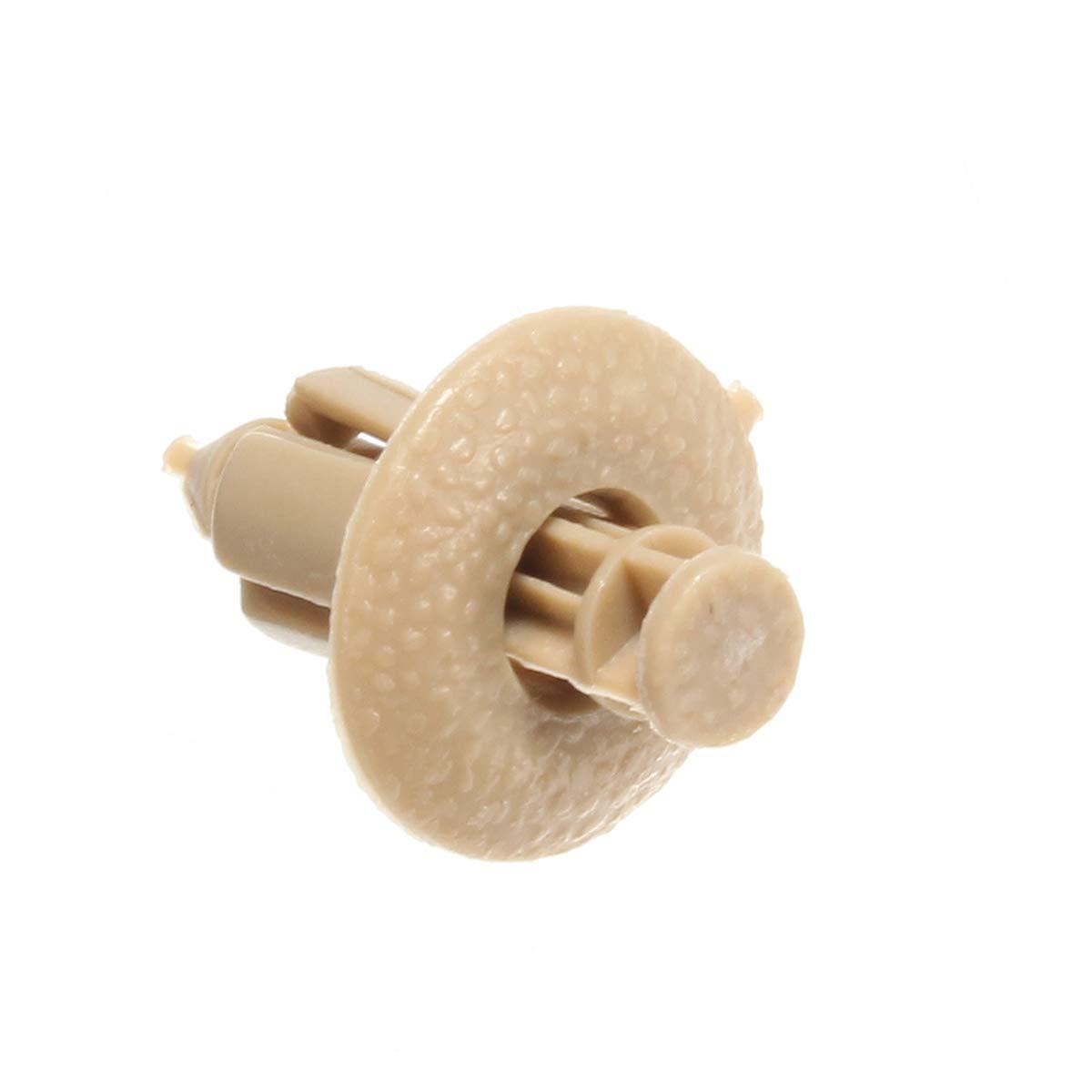 Viviance 10Pcs Plastique Rivet Garniture Panneau De Fixation Voiture Clip Porte Beige pour Volvo C70//S60//S80//V70