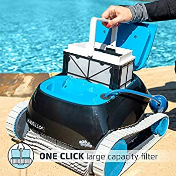 Dolphin Nautilus Cc Robotic Pool Vacuum Cleaner Ideal For Above In Ground Swimming Pools Up To 33 Feet Powerful Suction To Pick Up Small Debris Easy To Clean Top Load