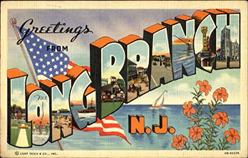 Greetings From Long Branch Long Branch, New Jersey Original Vintage Postcard from CardCow Vintage Postcards