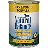 Natural Balance Duck and Potato Formula Dog Food (Pack of 12, 13-Ounce Cans)