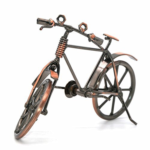 Metal sculpture Retro Classic Handmade Iron Motorcycle Bicycle unique metal art decoration Ornaments for Bicycle Motocycle Lovers by Medigy